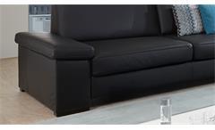 Sofa Puzzle 3-Sitzer 3er Couch Polstermöbel in Lederlook schwarz Breite 228 cm