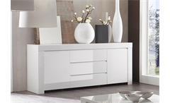 Sideboard Amalfi weiß echt hochglanz lackiert 190cm 2-türig