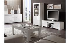 Couchtisch Amalfi Wohnzimmer Tisch in weiß hochglanz lackiert 122x65 cm