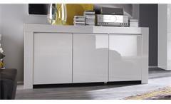 Sideboard Amalfi Kommode Schrank Anrichte in weiß Hochglanz lackiert Wohnzimmer