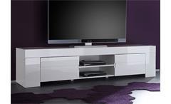 TV-Lowboard EOS Weiß echt Hochglanz lackiert 2 Türen