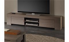 TV-Lowboard EOS TV Unterteil in Eiche grau Dekor 2 türig