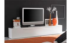 TV-Lowboard Primo TV Board in weiß hochglanz lackiert mit 1 Klappe