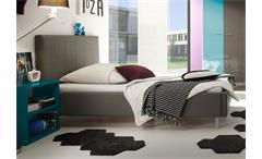 Polsterbett SMART Bett Schlafzimmerbett anthrazit 140x200