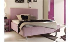 Polsterbett SMART Bett Schlafzimmerbett in lila 140x200 cm