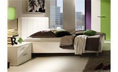 Polsterbett SMART Bett Schlafzimmerbett in weiß 140x200 cm