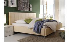 Polsterbett SMART Bett Schlafzimmerbett in sand 140x200 cm
