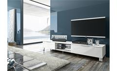 TV-BOARD 2 SOLA LOWBOARD TV-UNTERTEIL IN WEIß ECHT HOCHGLANZ LACK, NEU!