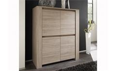 Highboard ELBA Sideboard Kommode in Eiche gekälkt zweitürig