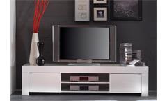 TV Board AMALFI weiß echt hochglanz lackiert 190cm breit
