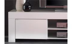 TV Board Amalfi TV Element Lowboard in weiß hochglanz lackiert 190cm breit
