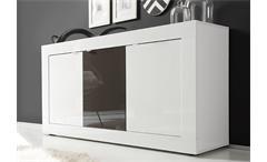 Sideboard Basic Kommode weiß und anthrazit lackiert B 160 cm