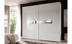 Schwebetürenschrank Lidia Kleiderschrank Schrank weiß Hochglanz lackiert B 240 cm