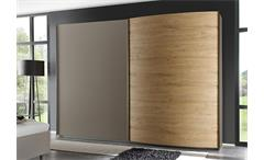 Schwebetürenschrank Tambura Kleiderschrank Beige matt Eiche Natur B 240 cm