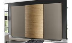 Schwebetürenschrank Tambura Kleiderschrank beige matt Eiche Natur B 314 cm