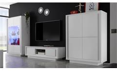 Wohnwand SKY Anbauwand in weiß matt inklusive Softclose