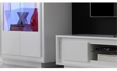 Wohnwand Sky Anbauwand Wohnzimmer Schrank in weiß matt inklusive Softclose