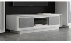 TV Lowboard Sky TV-Board Fernsehschrank Unterschrank weiß matt Beton Softclose