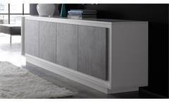 Sideboard Sky Kommode Wohnzimmer Schrank in weiß matt mit Softclose