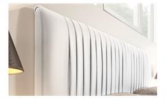 Schlafzimmer Venere Set in weiß Lack matt Bett Polsterbett Lederlook 4-tlg