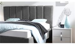 Schlafzimmer Sole Set 4-tlg in weiß Lack matt mit Chrom Polsterbett Lederlook
