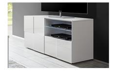 TV-Board Dama 1 Lowboard TV-Element TV-Schrank in weiß Lack