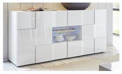 Sideboard Dama 2 Schrank Anrichte Kommode in weiß Lack Wohnzimmer