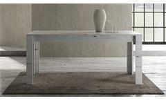 Esstisch Land Tisch Esszimmertisch Küchentisch Weißeiche feste Platte 180x90 cm