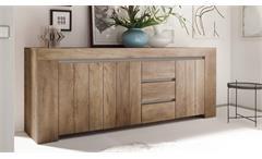 Sideboard Palmira Anrichte Kommode 3-türig Canyon Oak und beige matt softclose