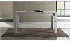 Esstisch Land Tisch Esszimmertisch Küchentisch Weißeiche feste Platte 160x90 cm