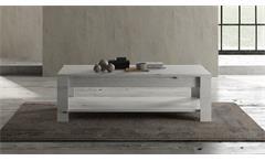 Couchtisch Land Wohnzimmertisch Beistelltisch Tisch in Weißeiche 140x68 cm