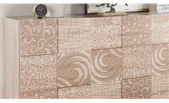 Sideboard MIROS 5 in Eiche Sonoma Dekor mit Siebdruck 181