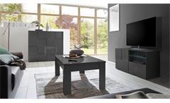 TV-Board Dama 1 Lowboard Unterschrank anthrazit Hochglanz Lack 3D Optik 121 cm