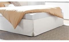 Polsterbett Amalti Bett Doppelbett für Schlafzimmer in weiß Lederlook 180x200