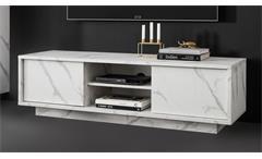 Lowboard TV-Board TV-Schrank Kommode 4-türig Marmor Optik weiß Carrara