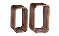 Regal-Set Goa von SIT Hängeregal Wandregal Cube Sheesham Holz massiv