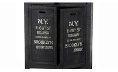 Highboard Bronx Sideboard Kommode Anrichte Mangoholz antikschwarz lackiert