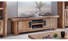 Lowboard CORAL recyceltes Teak natur Massivholz 160 cm
