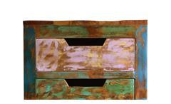 Kommode Miami Schubkastenkommode aus Altholz bunt lackiert mit Metallbeinen