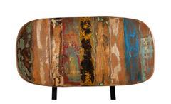 Stuhl Miami Holzstuhl Esszimmerstuhl aus Altholz bunt lackiert mit Metallbeinen