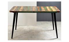 Tisch MIAMI Altholz bunt lackiert mit Metallbeinen 140x70
