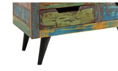 Lowboard 1 Miami TV-Board Unterteil aus Altholz bunt lackiert mit Metallbeinen