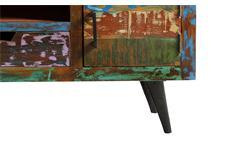 Lowboard 2 Miami TV-Board Unterteil aus Altholz bunt lackiert mit Metallbeinen