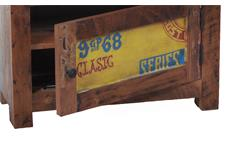 Kommode 1 Speedway Schrank recyceltes Altholz bunt lackiert mit 1 Schubkasten