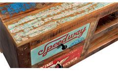 Lowboard Speedway TV-Board Unterteil recyceltes Altholz bunt lackiert 130 cm