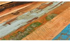 Kommode 6 Speedway Säule recyceltes Altholz bunt lackiert mit 4 Schubkästen