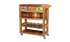 Küchenwagen SPEEDWAY recyceltes Altholz bunt lackiert