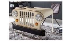Schreibtisch THIS THAT Metall creme lackiert Jeep Front