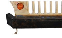Schreibtisch This That Arbeitstisch Tisch Metall creme lackiert mit Jeep Front