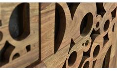 Kommode Bubbles Hochkommode Sideboard Schrank in Sheesham und MDF schwarz 45 cm